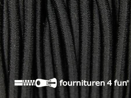 5 meter elastisch koord 3mm zwart