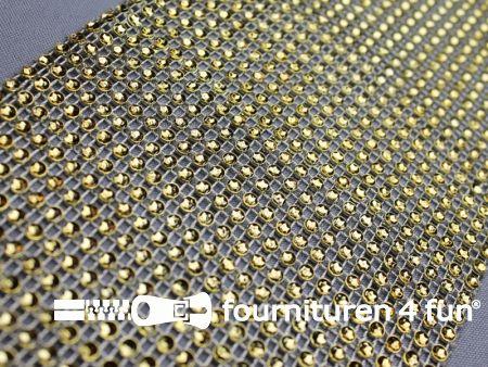 Strass band 115mm mini-cirkels goud