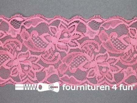Elastisch kant 80mm koraal roze