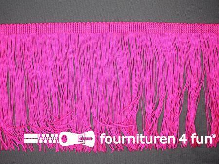 Charleston franje 150mm neon roze