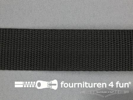 Parachute band 25mm zwart