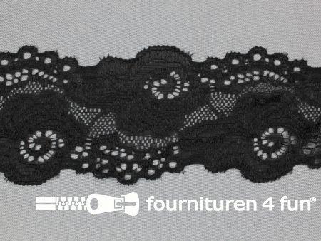 Elastisch entredeux kant 59mm zwart