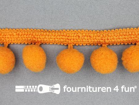 Bolletjesband 40mm oranje