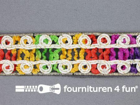Jacquard band 35mm multicolor - ecru