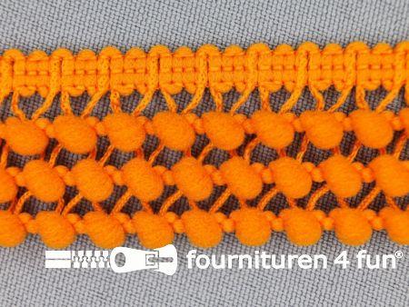 Mini bolletjesband 24mm oranje
