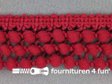 Mini bolletjesband 24mm koraal rood