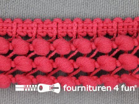 Mini bolletjesband 24mm koraal roze