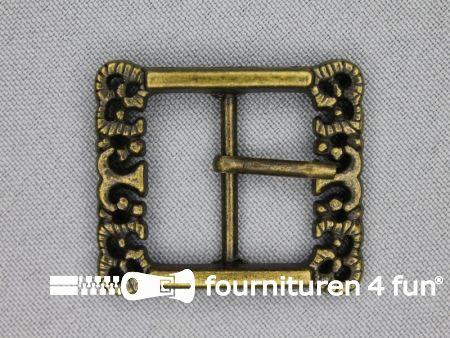 Metalen siergesp 25mm brons