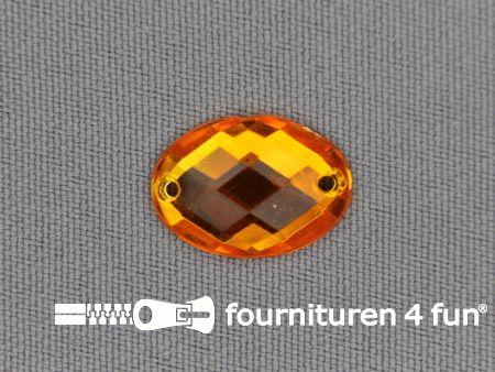 10 stuks Strass stenen ovaal 18x13mm goud geel