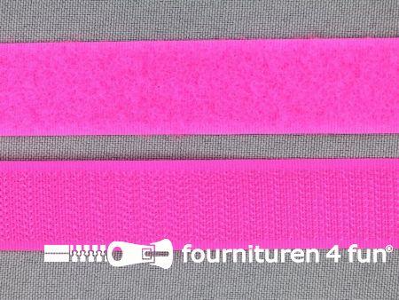 Rol 25 meter Klittenband 20mm neon roze