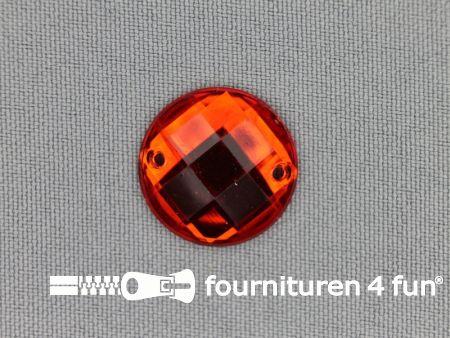 10 stuks Strass stenen rond 20mm rood
