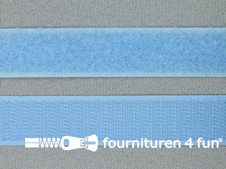 Klittenband 20mm licht blauw