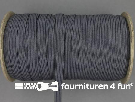 9 Meter elastiek 6mm donker grijs