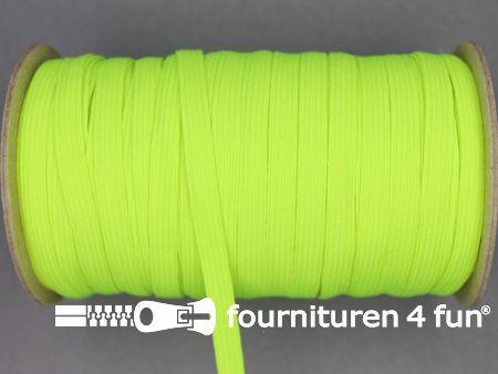 9 Meter elastiek 6mm neon geel