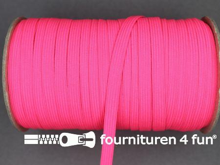 9 Meter elastiek 6mm neon roze