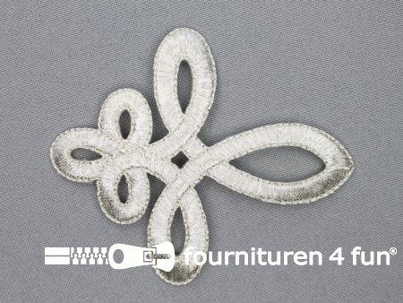 Barok applicatie 78x93mm zilver
