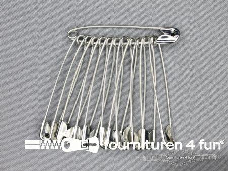 Veiligheidsspelden 60mm zilver doosje 1200 stuks
