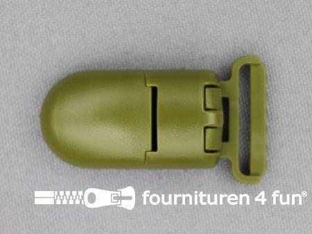 Kunststof clips 20mm legergroen