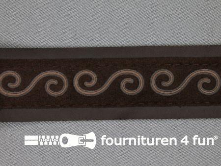 Skai band 30mm donker bruin