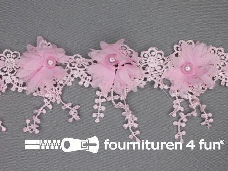 Bloemen franje 90mm licht roze