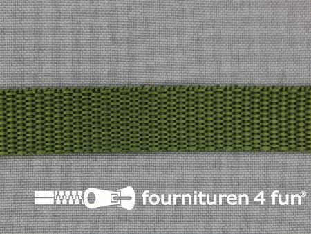 Parachute band 15mm leger groen