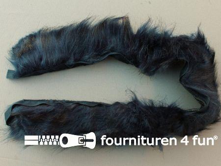 Bont rand 70cm donker blauw