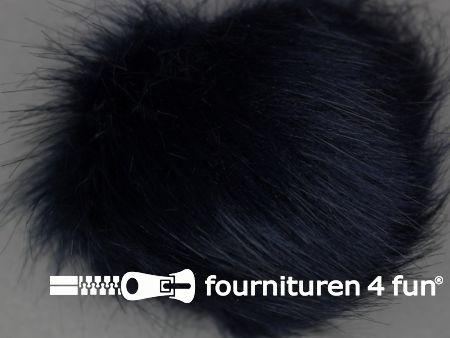Bont pompon 15cm donker blauw