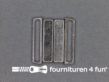 Inhaakgesp 25mm zilver