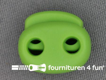 Koord stopper 21mm dubbel lime groen