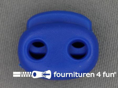 Koord stopper 21mm dubbel kobalt blauw
