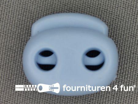 Koord stopper 21mm dubbel baby blauw