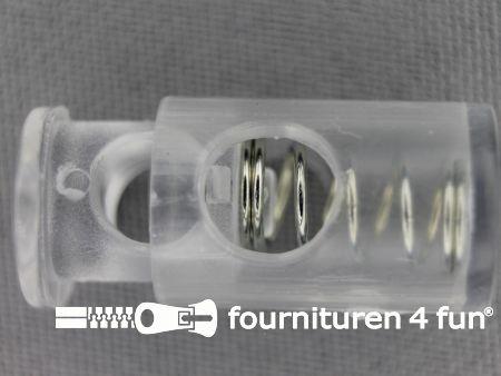 Koord stopper 28mm cilinder transparant