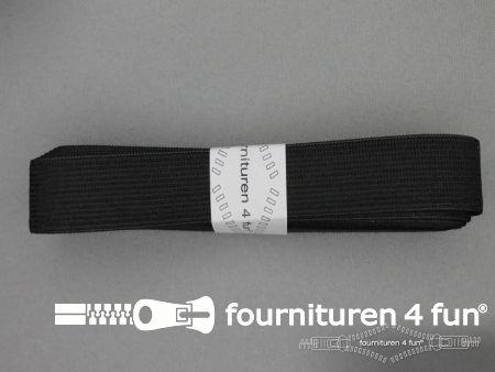 Band elastiek 25mm soepel zwart 2 meter