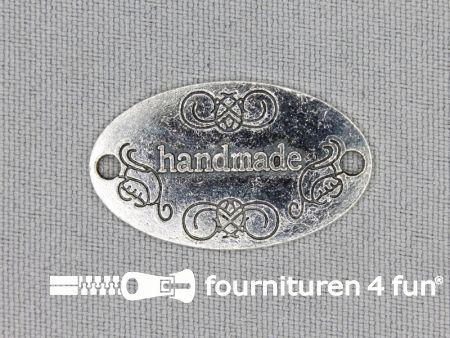 Steampunk hanger 31x19mm Handmade zilver