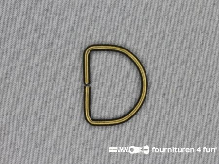 D-ring 25mm geel brons rond