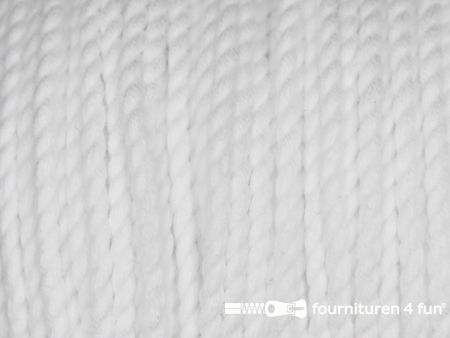 Katoen polyester koord 2,5mm wit