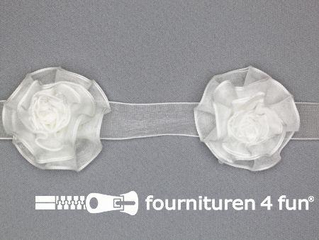Bloemenkant 60mm off white