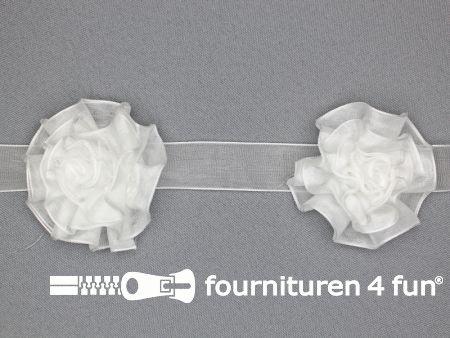 Bloemenkant 60mm wit