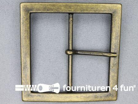 Metalen gesp 50mm vierkant brons
