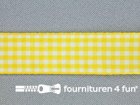Ruitjes lint 15mm geel