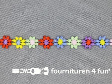 Bloemenkant 10mm multicolor