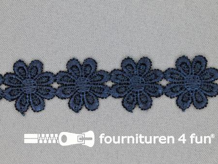 Bloemenkant 25mm marine blauw