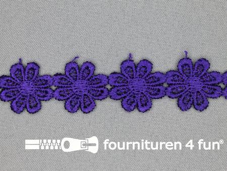 Bloemenkant 25mm donker paars