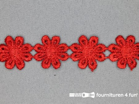 Bloemenkant 25mm rood