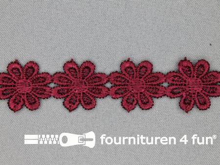 Bloemenkant 25mm bordeaux