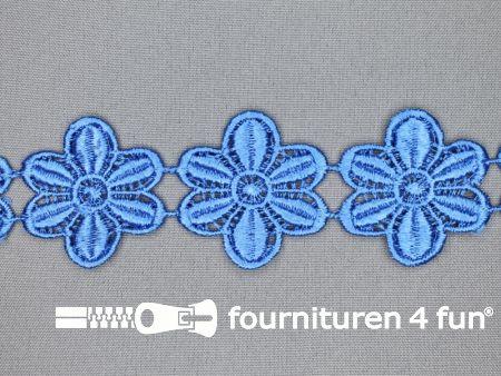 Bloemenkant 48mm jeans blauw