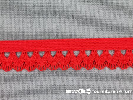 Elastisch kant 16mm rood