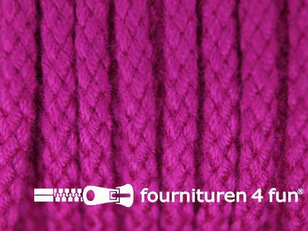 Jassen koord 4mm fuchsia roze