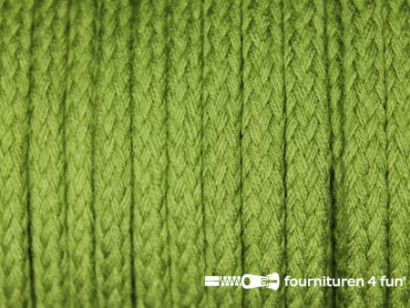 Jassen koord 6 tot 8mm olijf groen
