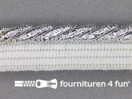 Gedraaid paspelband 18mm zilver